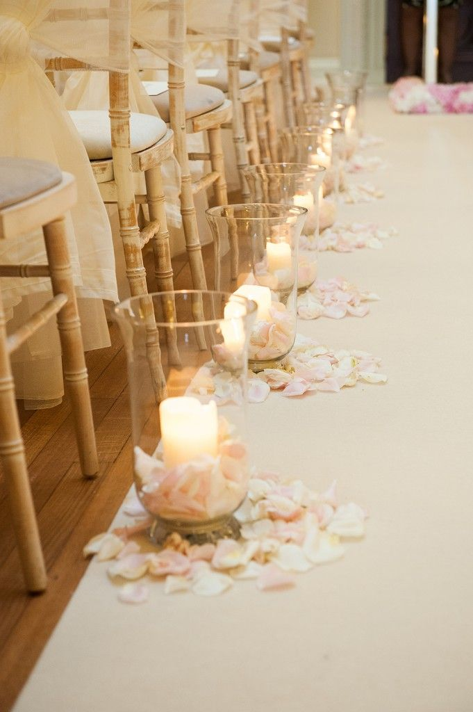 The candles and rose petals created such a romantic ambience.