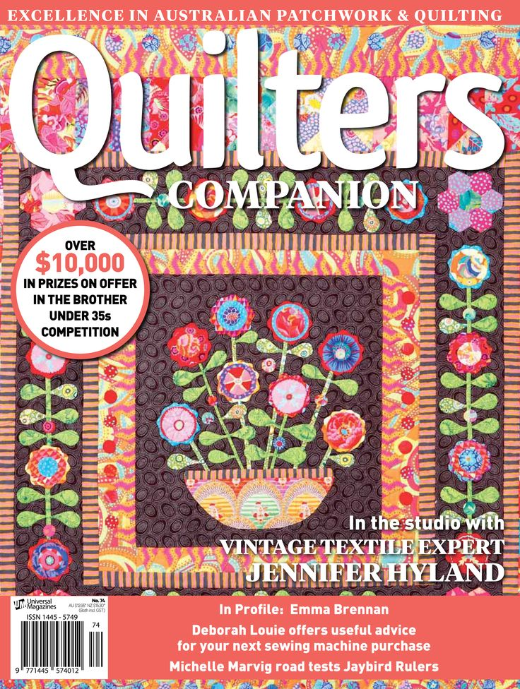 Quilters Companion #74 cover