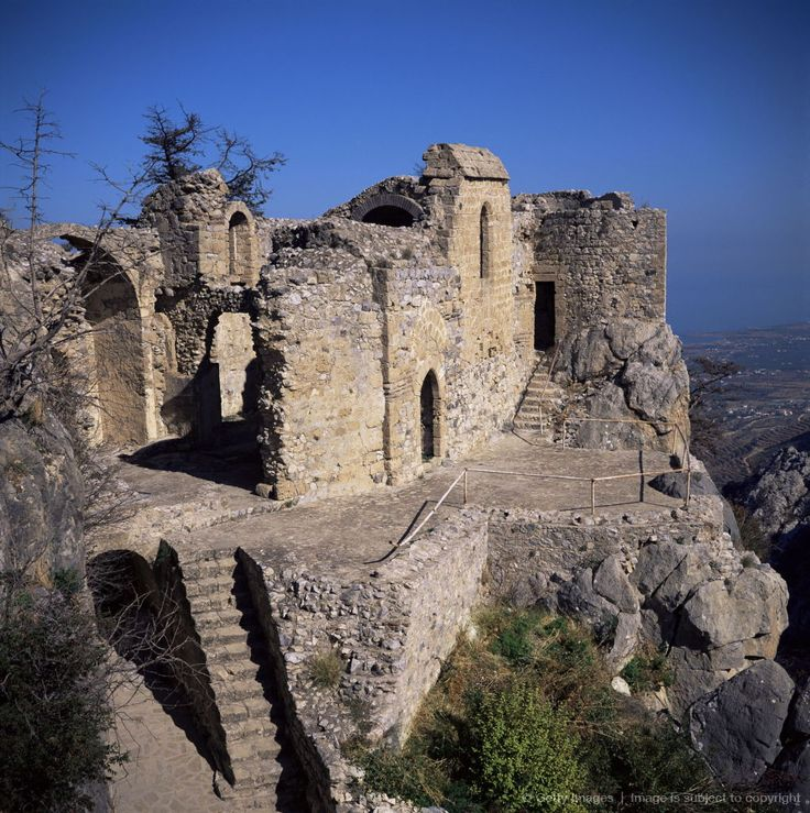 St. Hilarion, Byzantine monastery rebuilt as by Lusignans as a castle in the 11th century, North Cyprus, Cyprus, Europe