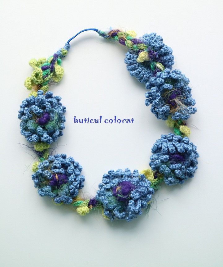 Cornflowers Crowns, cornflower headband, Boho - hippie, Hair accesorie, festival flower hair band, crochet blue flowers by ButiculColorat on Etsy