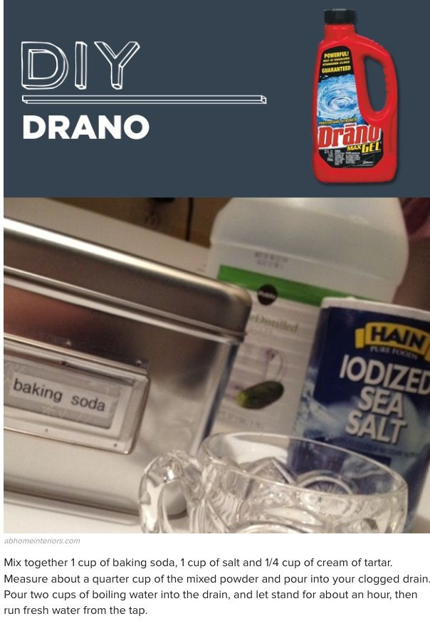 DIY drain cleaner without vinegar
