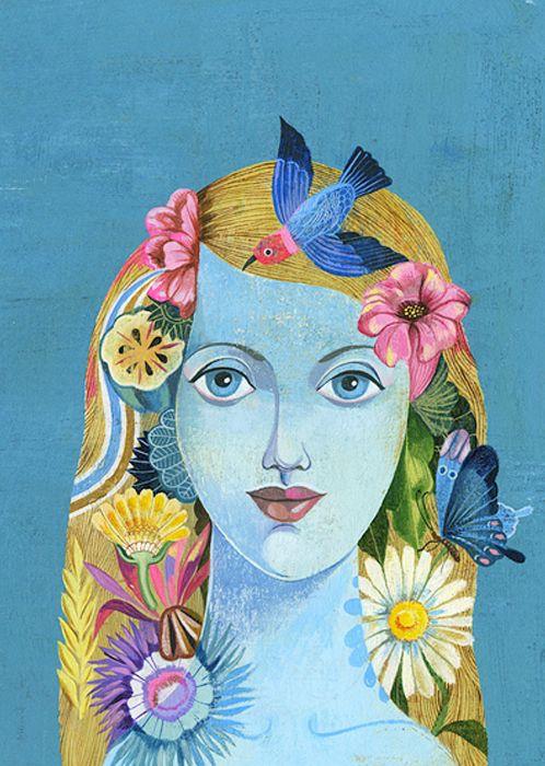 Olaf Hajek: Art, Inspiration, Art Olaf Hajek, Art Ideas, Flower, Art Illustration