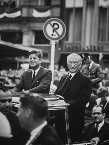 Konrad Adenauer with President John F. Kennedy    by John Dominis