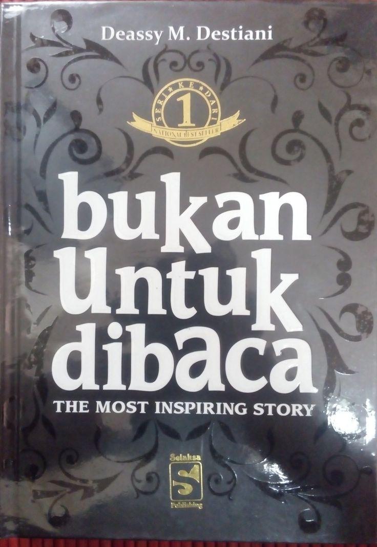 """""""Bukan Untuk Dibaca"""" Deassy M. Destiani #buku #sewabuku #perpustakaan"""
