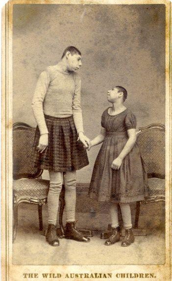 Fredericks NY c.1885. The Wild Australian Children.