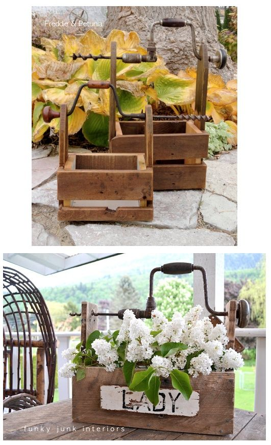 Antique Booth Designs | Antiques , booth ideas , and projects / Drill handled tool boxes, by ...
