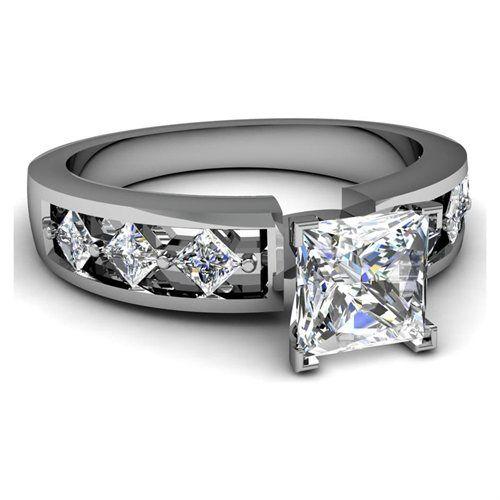 25 best ideas about princess cut diamonds on pinterest cushion ring diamond ring cuts and cushion cut diamond ring - Womens Black Wedding Rings