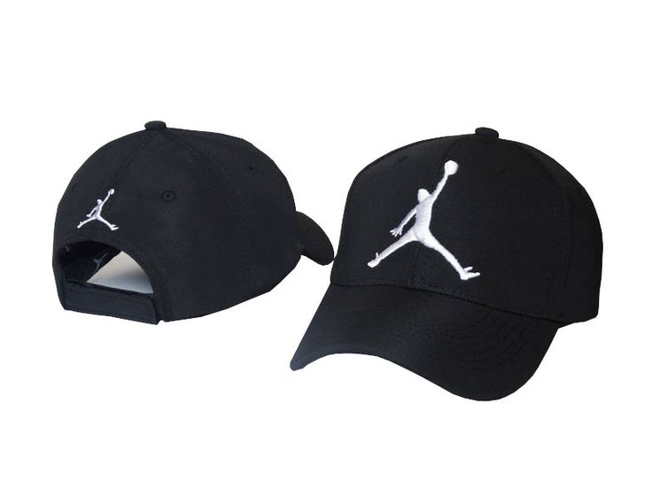 Mens / Womens Nike Air Jordan The Jumpman 3D Embroidery Logo 6 Panel Fashion Strap Back Adjustable Polo Cap - Black / White