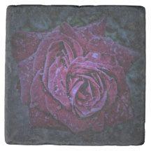 Purple Rose Marble Stone Coaster $9.95