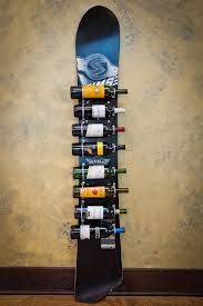 Snowboard wine rack : )