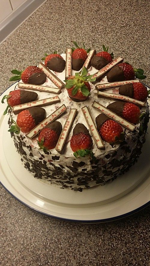 Yogurette-Torte ohne gelantine