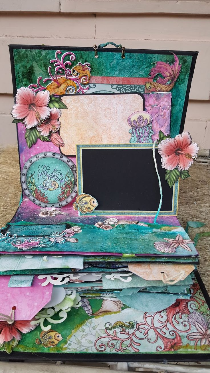 Scrapbook ideas pop up - Anita Kejriwal A Pop Up Mini Album With Heartfelt Creations Under The Sea Scrapbooking