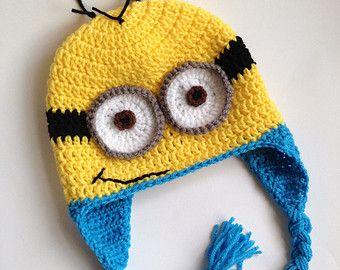 Minion Hat - Crochet Hat - Minion - Crochet Minion Hat - Hat - Character Hat - Photo Prop - Despicable Me Hat