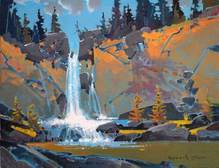 'Nicola Falls', 2013, acrylic by Robert Genn at Mayberry Fine Art