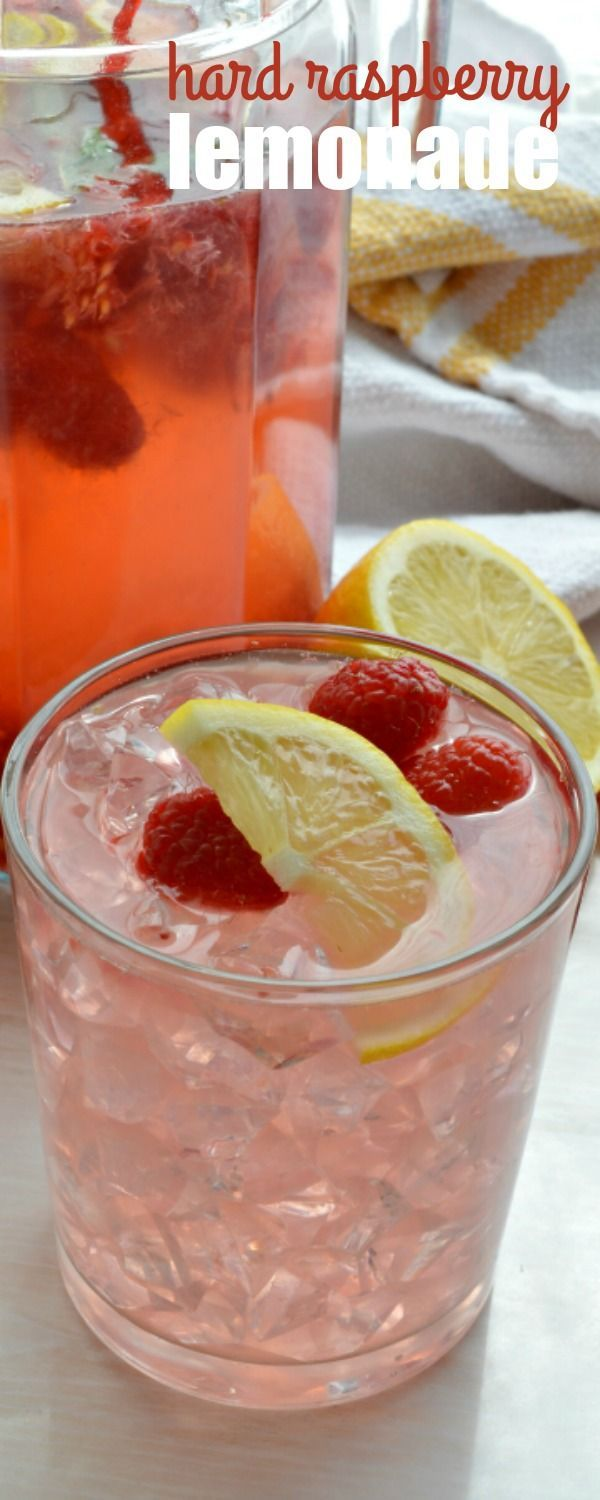 Toast to the warm summer months with this fun cocktail! HARD RASPBERRY LEMONADE is simple to make and great for serving a crowd of thirsty guests!