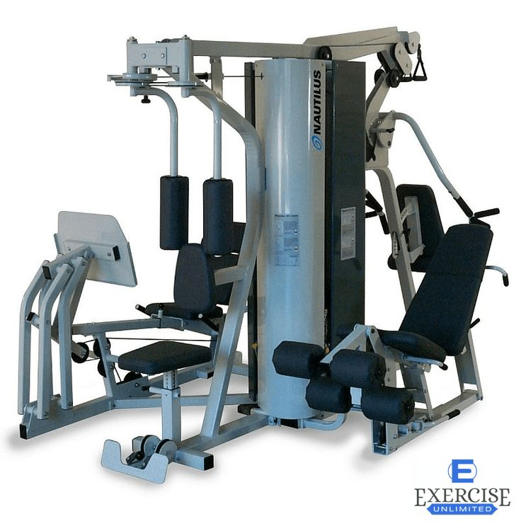 Four Separate 200 Lb Weight Stacks Allowing Four Users To Exercise Simultaneously Each Exercise Movement Has Been No Equipment Workout Multi Gym At Home Gym