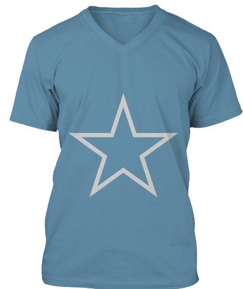 Star Steel Blue T-Shirt Front