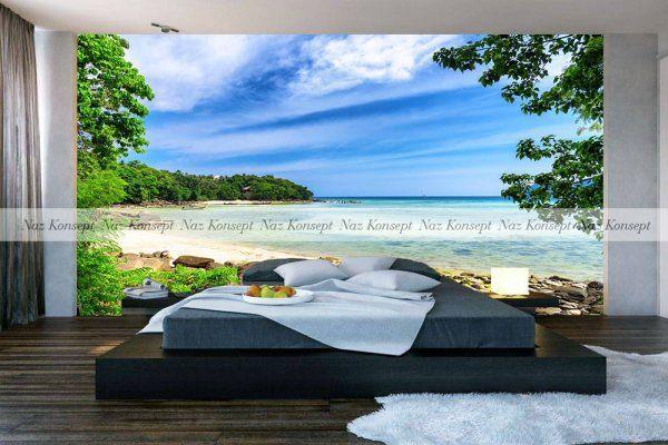 3D Yatak Odası Duvar Kağıdı 02
