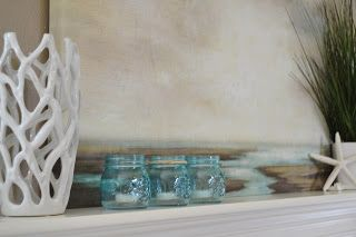 Simple Beach Mantle  #Beach #Coastal #Mantle