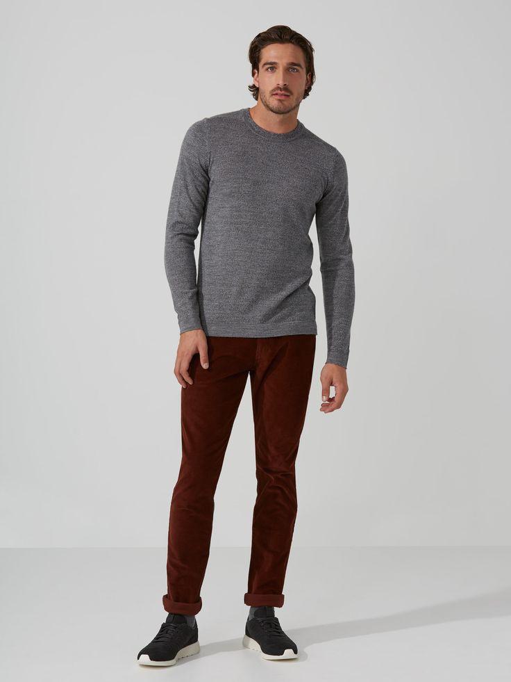 Machine-Washable Merino Sweater in Dark Concrete    Frank And Oak