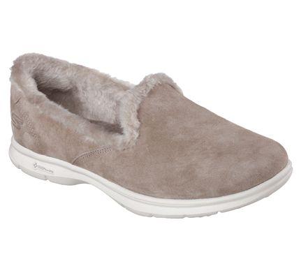 Cheap Sale Women Skechers Microburst Fluctual Charcoal slip on memory foam traine Grey