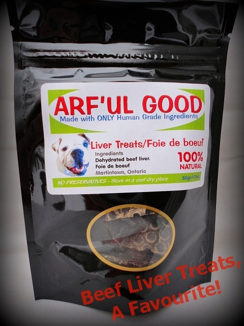 RE-PIN!!! Arf'ul Good Beef Liver treats are always a favourite! A 50g package only $3.45! www.arfulgood.com