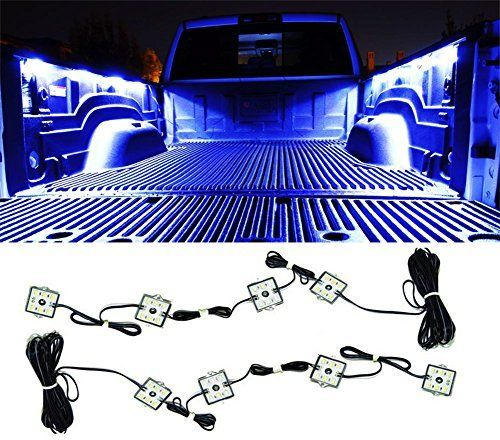 Truck LED Bed Lights Lighting Accessories with 48 Super Bright LED Glow Fits for Pickup Truck Bed Cargo Area LED Lighting Kit Color White