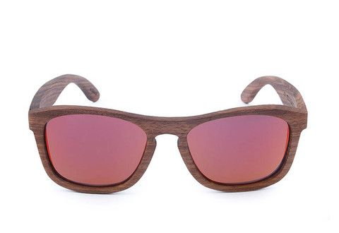 Da Costa Wooden Sunglasses - Polarized Mirror Lens. Float in Water, great for the beach!