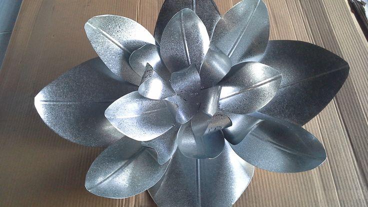 Flower Made From Scrap Sheet Metal Diy Amp Crafts