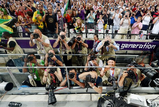 Usain Bolt Took Photos After Winning Gold And They're Awesome
