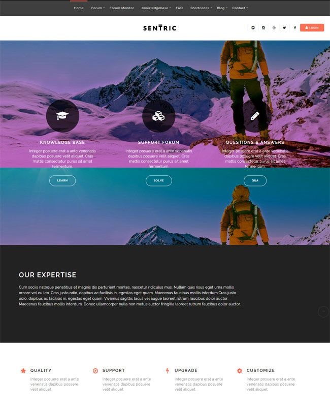 Sentric-Support-Forum-Knowledge-Base-Wordpress-Theme