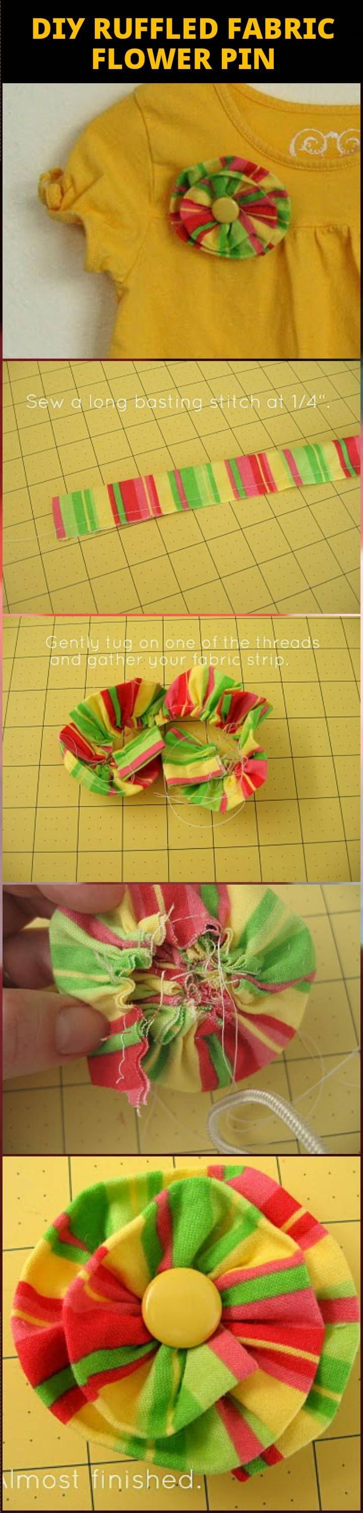 how to make easy fabric flowers