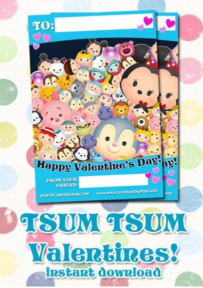 Tsum Tsum Valentine's Day Instant Download  by DigiPopCards