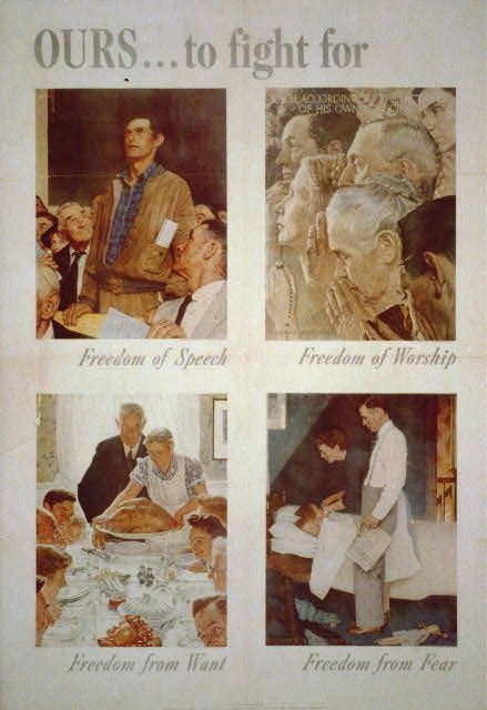 Norman Rockwell's Four Freedoms