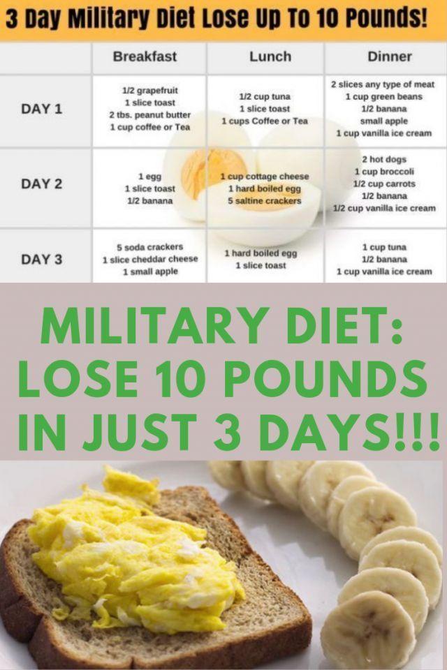 Militärdiät: Verlieren Sie 10 Pfund in nur 3 Tag…