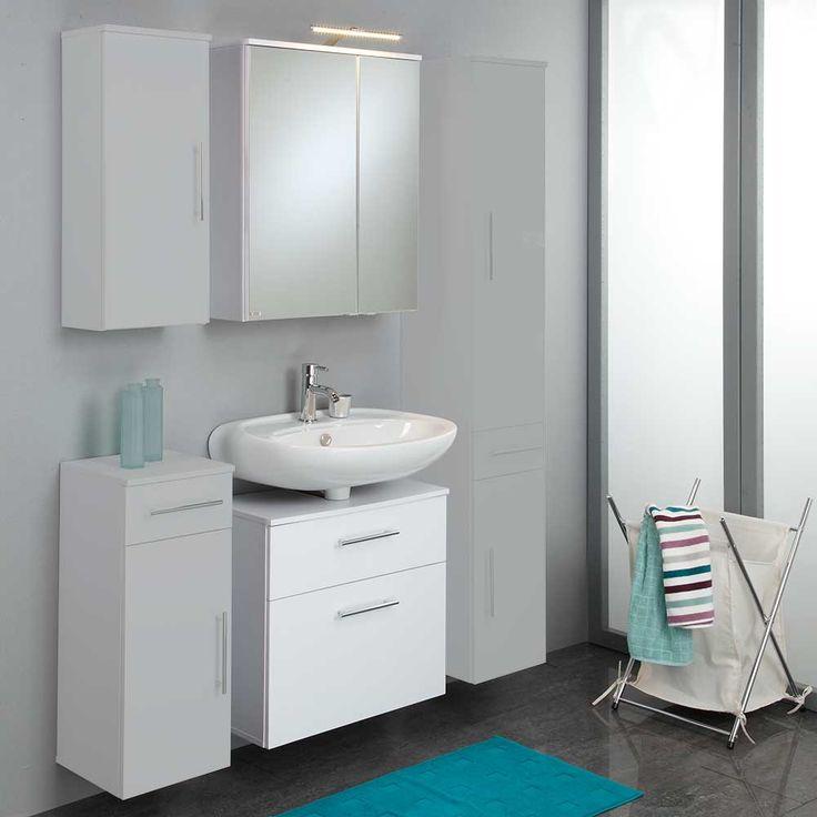 Badmöbel Set In Weiß Mit Spiegelschrank (2 Teilig) Jetzt Bestellen Unter:  Https: