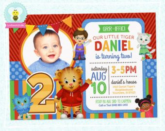 Daniel Tiger Invitation Chalkboard Daniel Tiger by SometimesPie