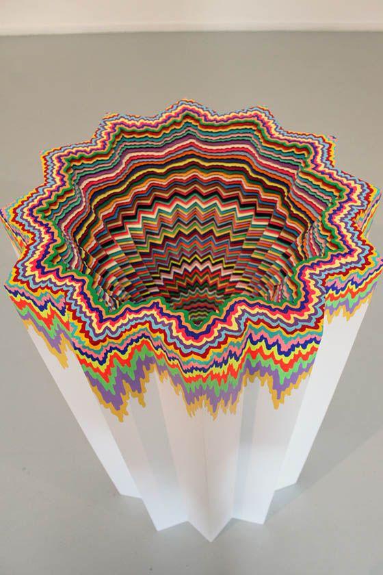 Best Jen Stark Images On Pinterest Paper Art Art - Mesmerising hand crafted paper sculptures jen stark