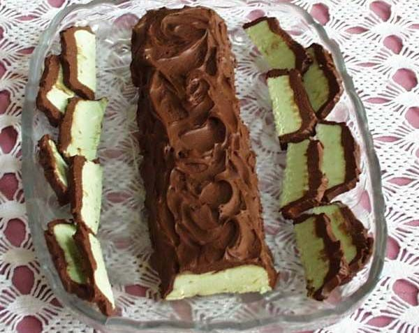 SPLENDID LOW-CARBING BY JENNIFER ELOFF: Chocolate After Dinner Mint Log (GF)
