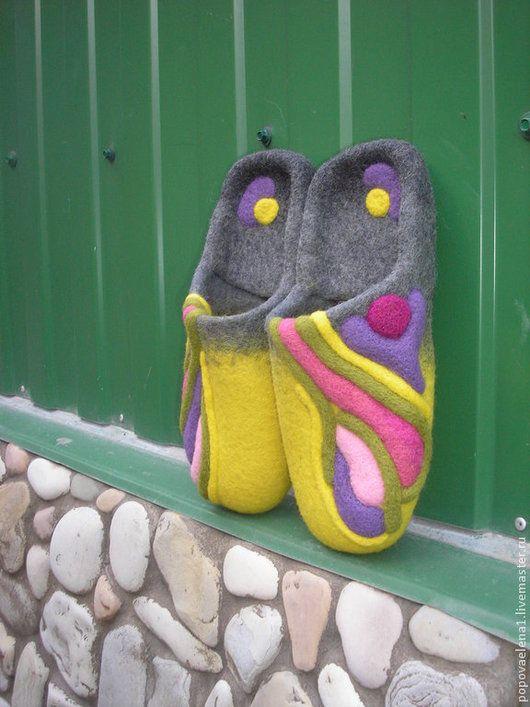 Обувь ручной работы. Валяные тапочки