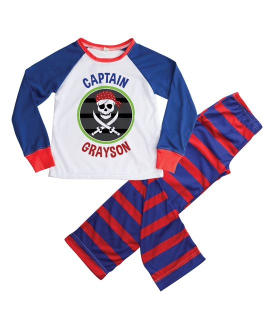 Blue & Red Pirate Personalized Loungewear Set