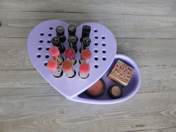 SALE  Makeup organizer in a heart shape  by CraftersCalendar