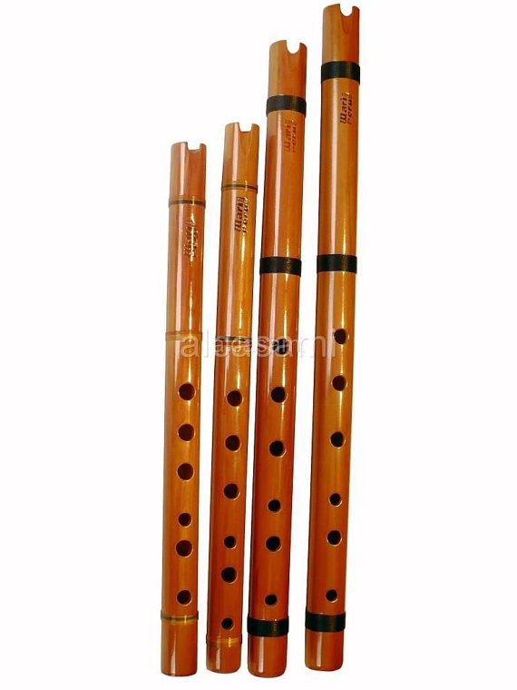 Set 4 Professional Wari Quena Flutes in C D F and G by Alcasami, $129.00