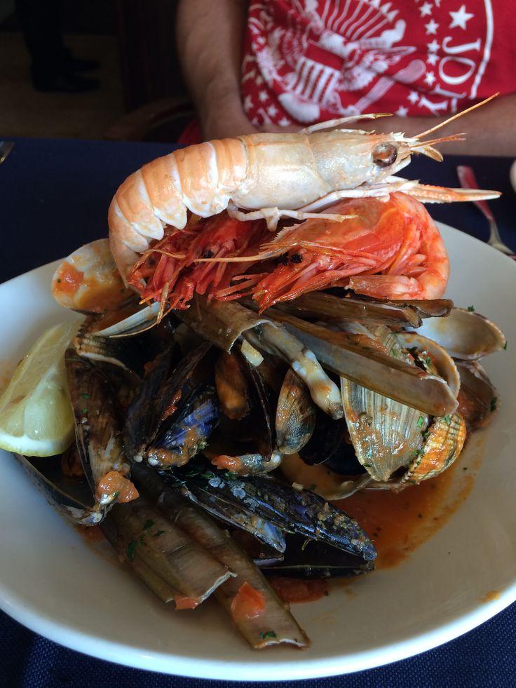 Delicious seafood at Marsaslokk, Malta