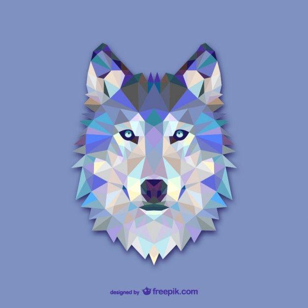 Vector cabeza de lobo y mas vectores
