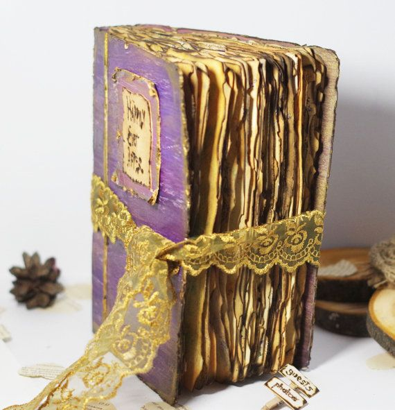 Fairytale Wedding Guest Book Vintage Guest book by CraftPointPL