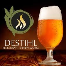 Destihl Brewery here in Bloomington-Normal, IL is a favorite of ours! It's fine dining and famously good craft beers, brewed here in Bloomington.