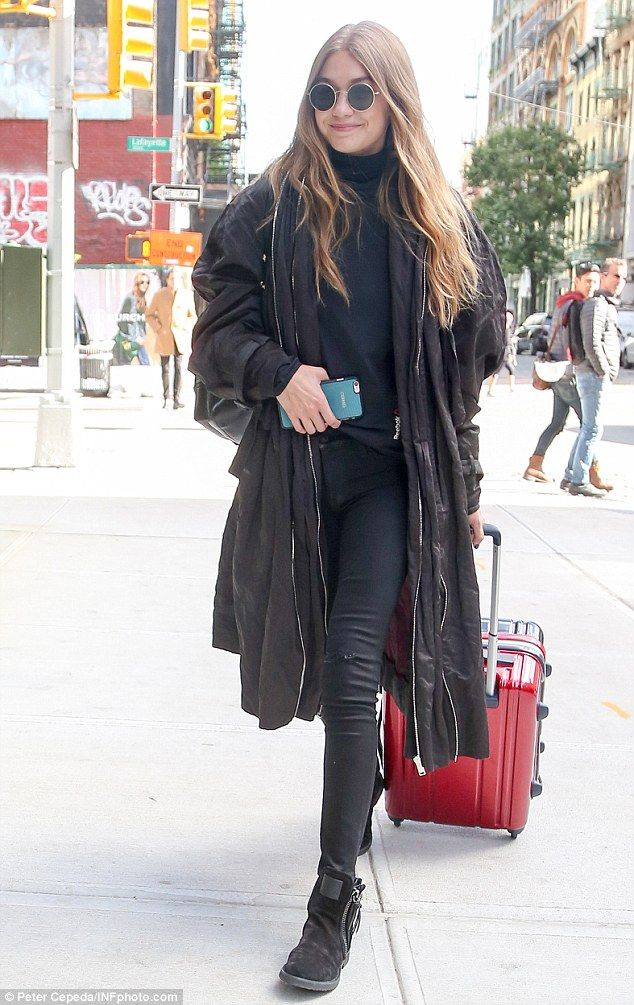 Step out in style with suede ankle boots like Gigi's. Click 'Visit' to buy now. #DailyMail