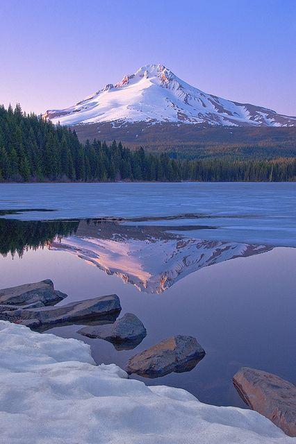 neptunesbounty:Trillium Lake by Bobshots on Flickr.