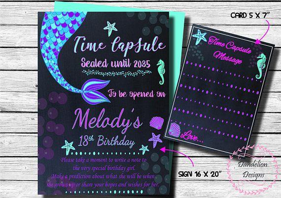 Mermaid Time capsule mermaid 1st birthday time capsule